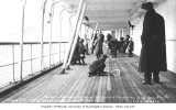 Passengers on deck of boat, ca. 1912