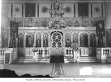 Interior of Russian Orthodox Church, Unalaska, ca. 1912