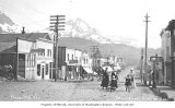 Women and children on Main Street in Cordova, ca. 1912