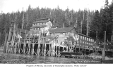 Dock and cannery buildings, Ward Cove, ca. 1912