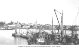 Waterfront and fishing boats, Petersburg, ca. 1912