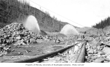 Placer mining operation, unidentified location, ca. 1912