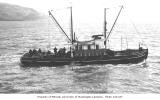Motor cannery tender RED ROVER in waters off Port Moller, ca. 1912