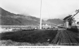 View of hills and Unalaska from area behind Russian gun battery, ca. 1911