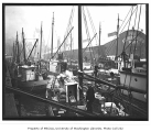 Seattle waterfront and boats near Schwabacher's Wharf at Pier 7, foot of Union St., February 5,...