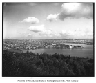 Lake Union panorama seen from East Queen Anne, part 1 of 2, looking northeast toward Wallingford,...