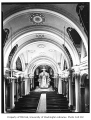 St. James Cathedral interior, view of the altar from the back of the nave, Seattle, n.d.
