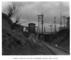 Fremont Bridge and tracks of Northern Pacific Railway, Seattle, n.d.