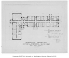 Philosophy Hall and Commerce Building floor plan, University of Washington, Seattle, n.d.