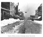 1st Ave. and Pike St. after the Big Snow of 1916, Seattle