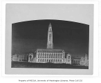Drawing of 1924 proposed architectural plan for Suzzallo Library, University of Washington,...