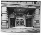 Insurance Building exterior, main entrance, Seattle, December, 1936