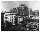 Looking northeast from the Hotel Savoy at 3rd Ave. and University St., Seattle, March 19, 1919