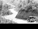 Automobile on Blewett Pass, Washington, 1926