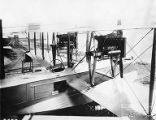 Front view of F5L flying boat power plant, circa 1917-1919
