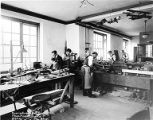 Curtiss Aeroplane and Motor Company model maker's shop, Garden City, February 24, 1919