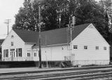 Northern Pacific Burlington Northern railroad station, Olympia, circa 1973