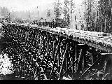 Railroad trestle, location unknown, n.d.
