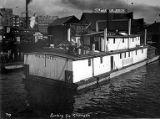 Boat SKAGIT loaded with supplies heading to the Klondike at dock in Seattle, Washington, n.d.