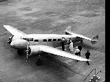 Lockheed Electra from Northwest Airlines on airfield, n.d.