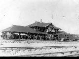 Benton City railroad station on opening day of service, 1909