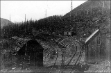 Northern Pacific Railroad switchbacks near the summit of the Cascades, 1887