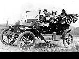Family on automobile outing, location unknown, ca. 1910