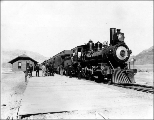 Northern Pacific train at depot, Livingston, Montana, October 7, 1895