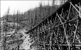 Northern Pacific switchback and trestle, Cascades Mountains, n.d.