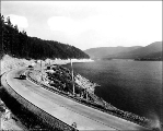 Highway at Lake Keechelus looking south (eastbound) from Rocky Run Creek, ca. 1934
