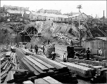 Construction of the Great Northern Railway tunnel, Seattle, ca. 1903