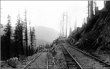 Northern Pacific Railroad switchback in the Cascade Mountains, n.d.
