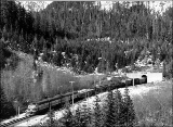 Great Northern train leaving the Cascade Tunnel, n.d.
