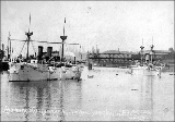Battleships U. S. S. CHARLESTON and U.S.S. BALTIMORE in Portland, May 14, 1892