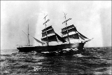 ANTIGONE bark under sail, n.d.