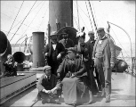 Passengers on the deck of the Steamer DORA, ca. 1896 -1910s
