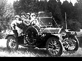 Group in a Mitchell automobile, 1910