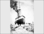Cutting the S.S. PORTLAND out of Bering Sea ice, ca. 1903
