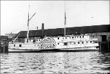 Sidewheel steamboat ELIZA ANDERSON at dock, probably Seattle, n.d.