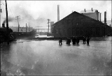 Chicago, Milwaukee and St. Paul yards during flood, 1917