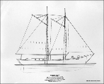 Drawing of the schooner EXACT