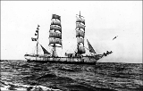 Sailing vessel BUFFON at sea, n.d.