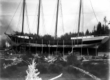 Schooner DEFIANCE ready for launch, Hoquiam,  1897