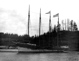 Schooner DEFIANCE at the time of her launching at Hoquiam, 1897