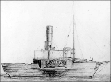 Drawing of the Canadian steamer BEAVER, ca. 1885