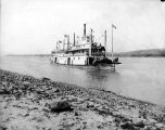 Stern wheeler steamboat DAWSON, probably in the Yukon River, ca. 1914