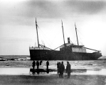 Wreck of the steam schooner HALCO, Grays Harbor, 1925