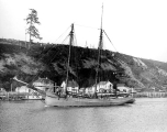 Schooner HOWARD in the Hoquiam River, n.d.