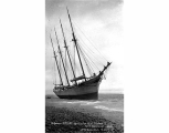 Schooner HELENE beached at Point Hudson, vicinity of Port Townsend, n.d.