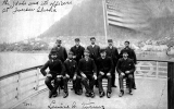 Officers of the ship IDAHO on deck, Juneau, n.d.